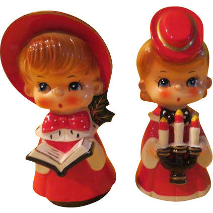 Carolers in Red Hats - X-16-5