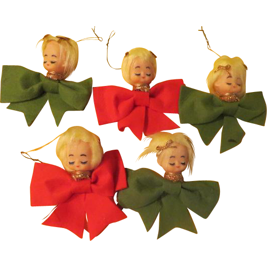 Pixies with Bows Christmas Tree Ornaments - b213