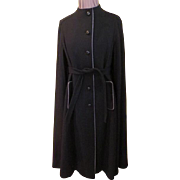 Black cape with Tie Belt