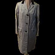 Velveteen Collar B & W Chesterfield Coat