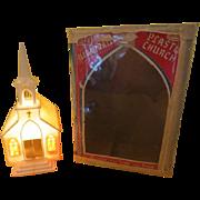 Glolite Illuminated Plastic Church in Box - b216