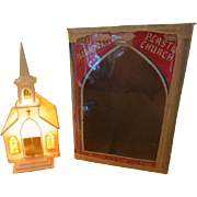 Glolite Illuminated Plastic Church in Box - b216