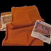 Burnt Orange Cafe Curtains in Package - L*