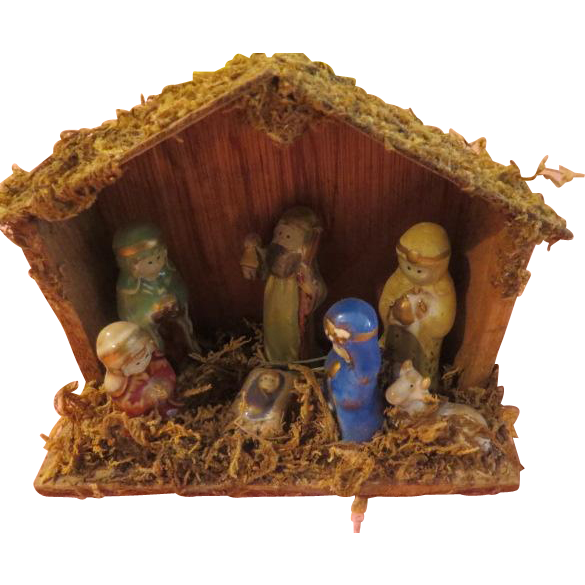 Mary in Blue Nativity Set - X-16-2