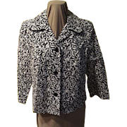 Black and White Flower Power Jacket