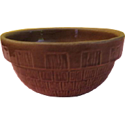 Brown Basketweave Bowl - g