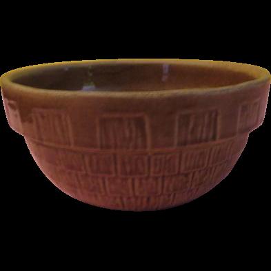 Brown Basketweave Bowl - g