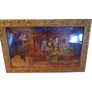 "Shadowbox Nativity Set Music Box plays ""Silent Night"""