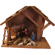 Ladder to the Left Italian Nativity Set - x-16-3