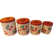 Decoware Cherries on Tin Canister Set - g