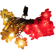 Red and White Poinsettia Christmas Tree Lights - b207