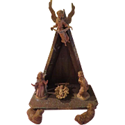 Simple A-frame Italian Nativity Set - X-16-3