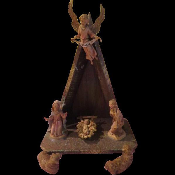 Simple A-frame Italian Nativity Set - X-16-3