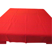 Red with Gold Thread Tablecloth - X-16-4