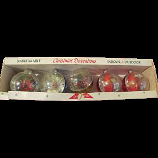 Jewelbrite Poinsettia and Elf Christmas Tree Ornaments - b219