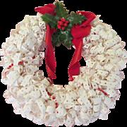 Dot Matrix Tab Wreath  - BW