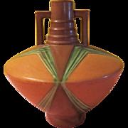 Roseville Futura Football Vase 409-9 -b219