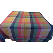 Pastel Woven Plaid Tablecloth - CL