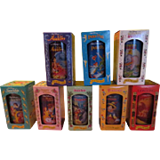 Burger King Walt Disney Collector Series Glasses in Boxes. - b207
