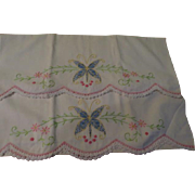 Blue Butterflies Embroidered Pillowcases - CL