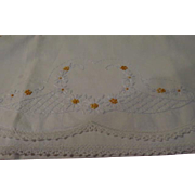 Dainty Yellow Flower Embroidered Pillowcases - CL
