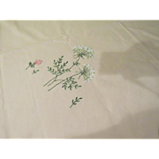 Embroidered Hydrangea Tablecloth - b209