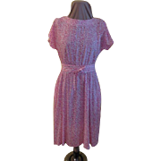 Pink Printed Sashed Shirtwaist Dress