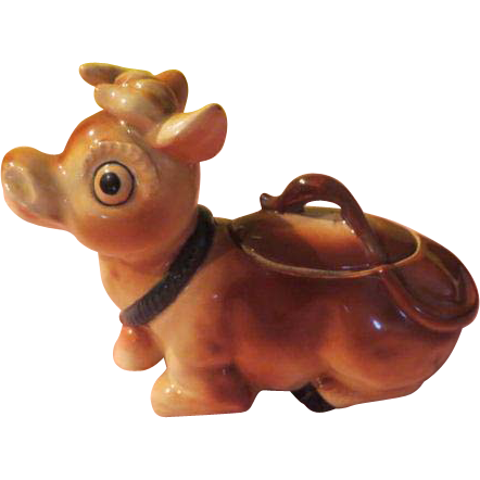 Cow with Bell Sugar Bowl - b207