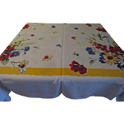 Primary Color Yellow Borders Tablecloth - b201
