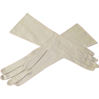 Top-stitched, Silk Lined Leather Gloves - b211