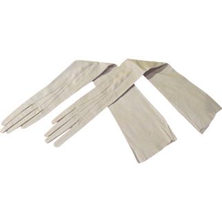 Extremely Long and Slender Leather Gloves - b211