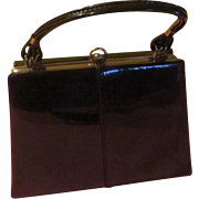 Shiny Black Patent Handbag/purse - b210
