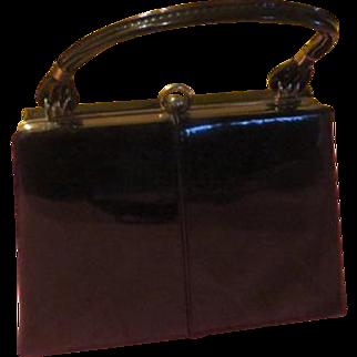 Shiny Black Patent Handbag/purse - b210