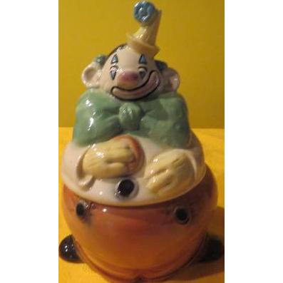 Brush Happy Clown Cookie Jar