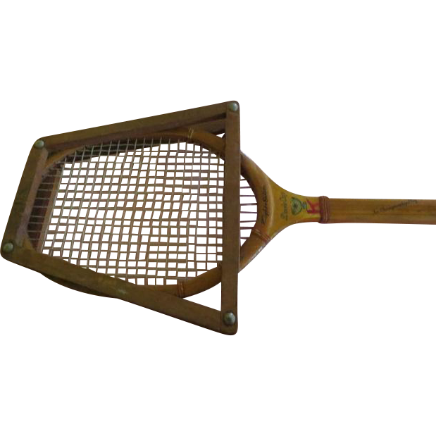 Wright & Ditson Davies Cup Wood Tennis Racket - g