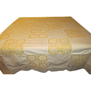 Lacy Patchwork Tablecloth - X-16-5