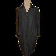 Velvet Collar Rain Coat