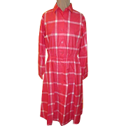 Sears ''The Shirtdress'' Pink Checked Shirtwaist Dress