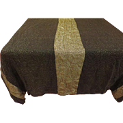 Black with Silver Threads Chicago Weaving Co. Tablecloth - L1