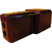 "Nifty ""Wood Grain'' Tin Projector - b215"