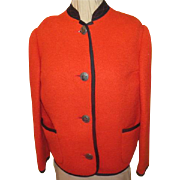 Austrian Red with Black trim Jacket