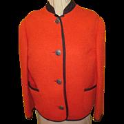 Austrian Red with Black trim Jacket