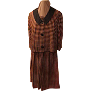 Black/brown houndstooth Dress and Jacket