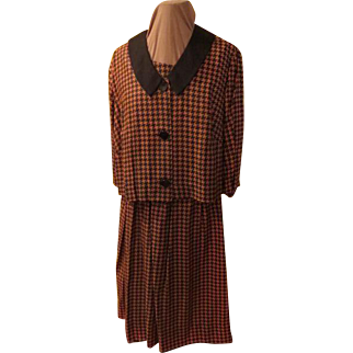 Black/brown houndstooth Dress and Jacket
