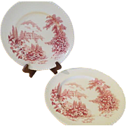 Johnson Bros Castle on the Lake Dinner Plates - b214