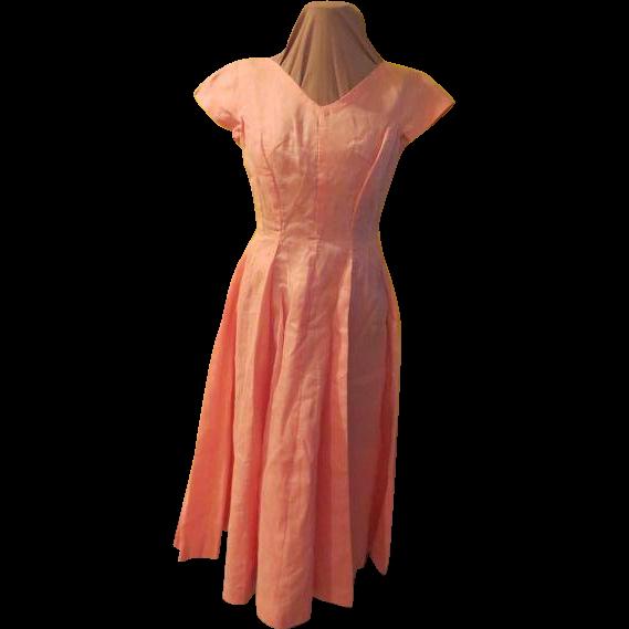 Princess Pink Ballerina Length Prom Dress