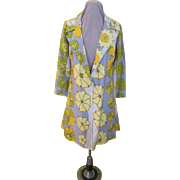 Flower Burst Silk Coat