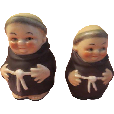 Goebel Friar Monk Salt and Pepper Shakers - b200