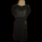 Slightly Sexy Sheer over Eyelet Black Dress