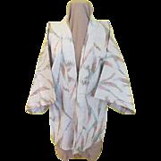 Short but Sweet Silvery Kimono/robe